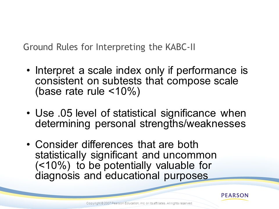 Ground Rules for Interpreting the KABC-II