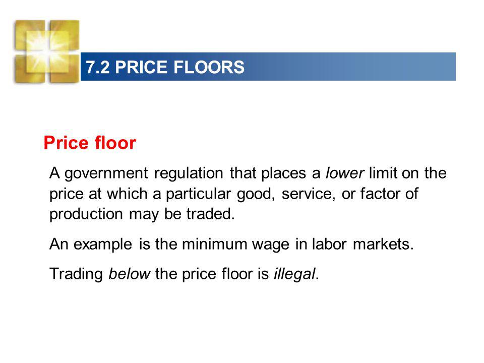 Price floor 7.2 PRICE FLOORS