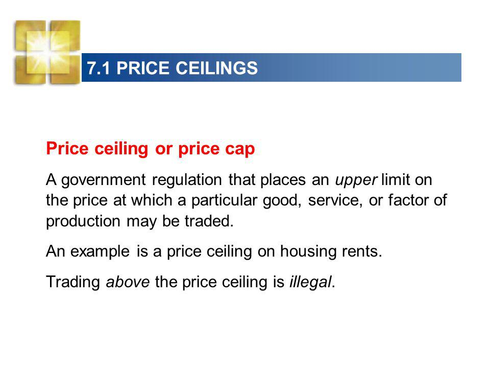 Price ceiling or price cap