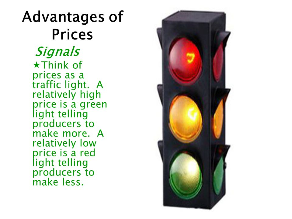 Advantages of Prices Signals.
