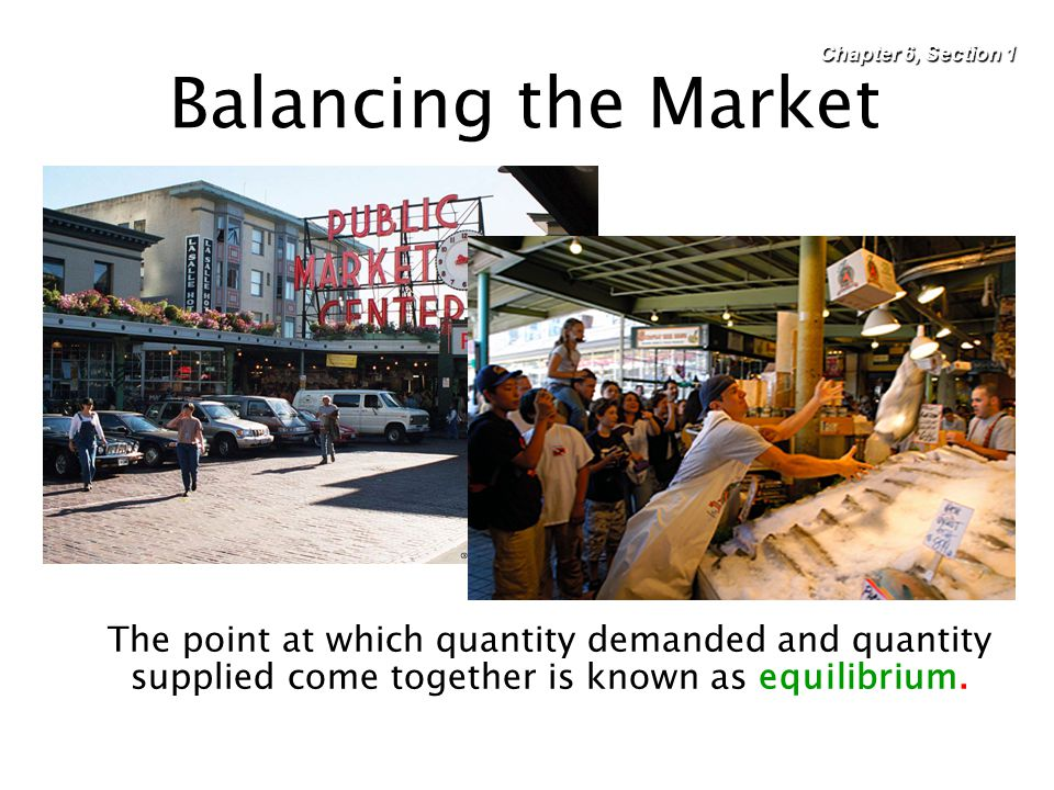 Chapter 6, Section 1 Balancing the Market.