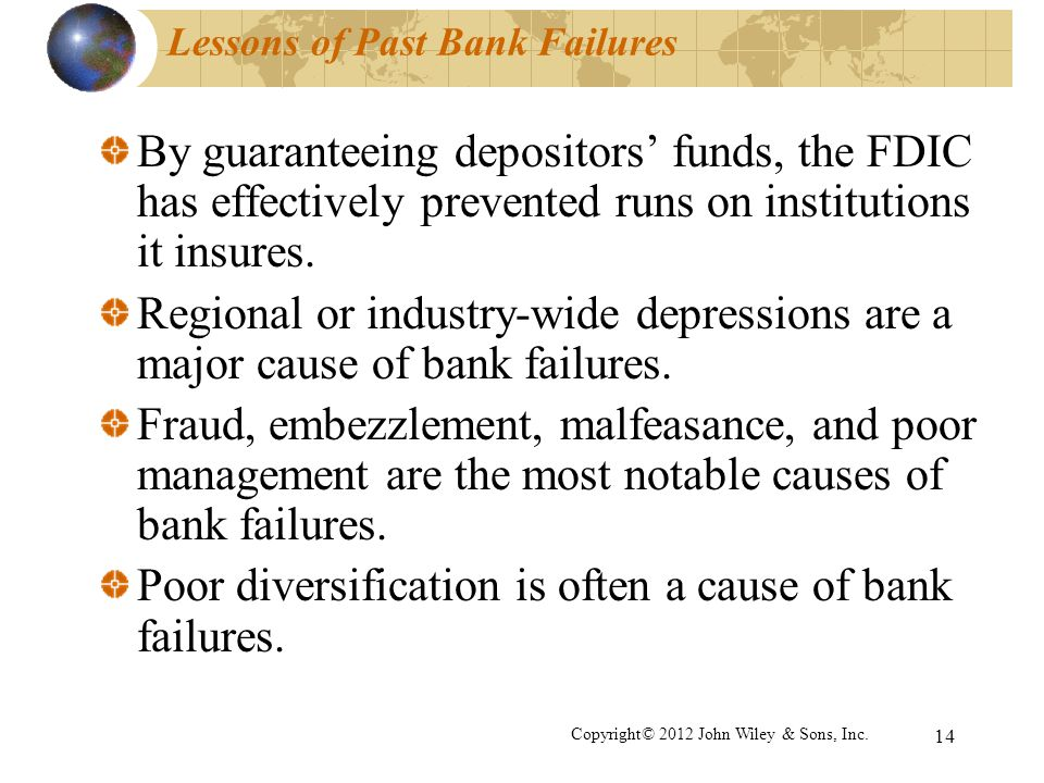 Lessons of Past Bank Failures