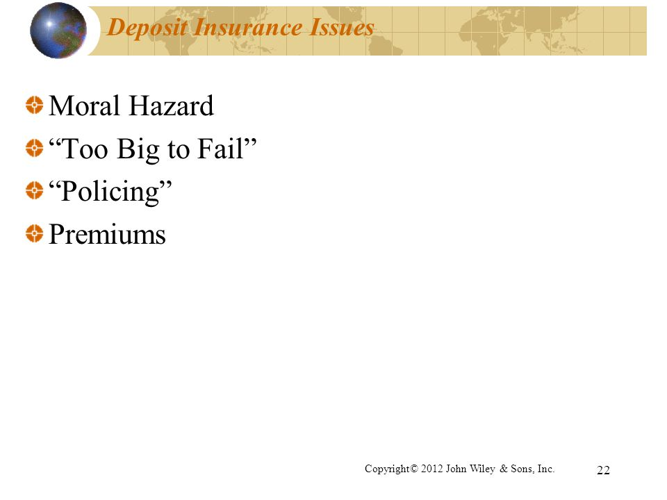 Deposit Insurance Issues