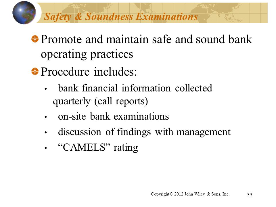 Safety & Soundness Examinations