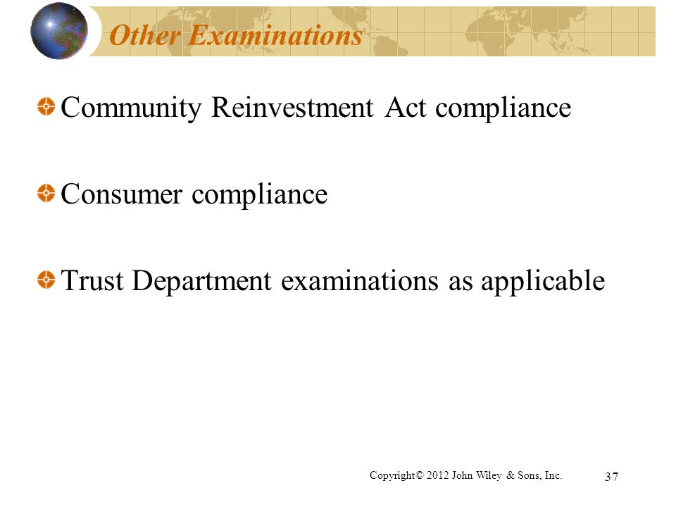 Community Reinvestment Act compliance Consumer compliance