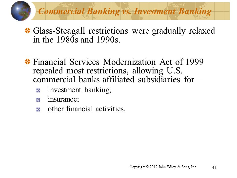 Commercial Banking vs. Investment Banking