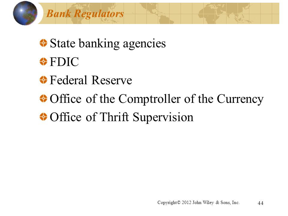 State banking agencies FDIC Federal Reserve
