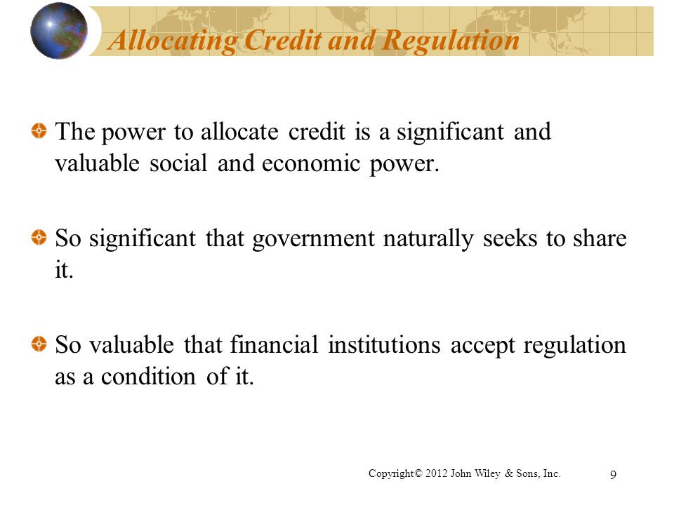 Allocating Credit and Regulation