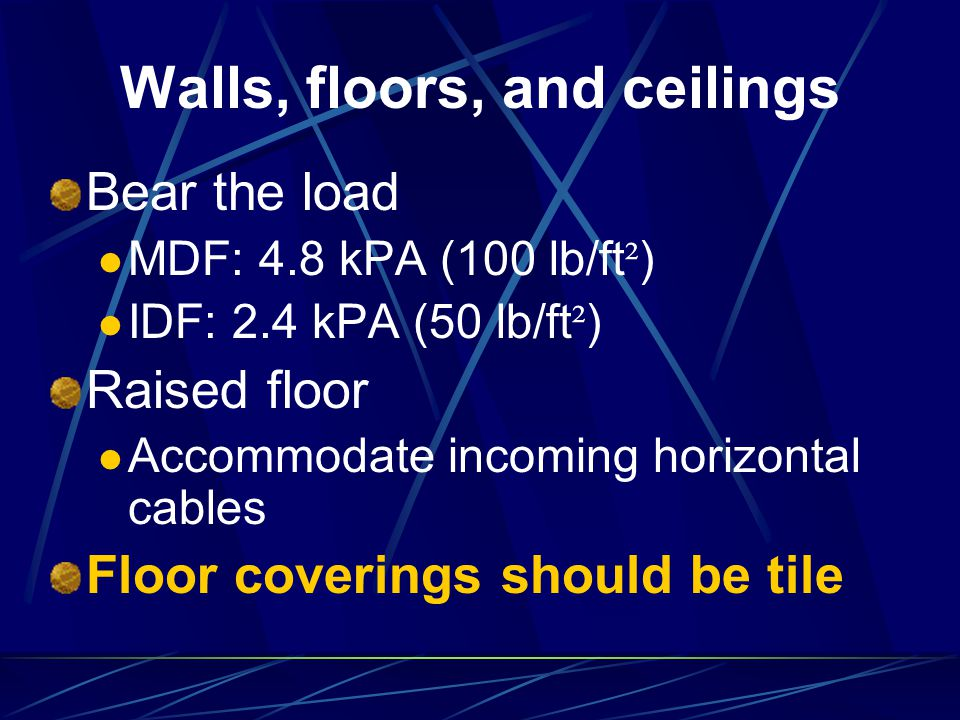 Walls, floors, and ceilings