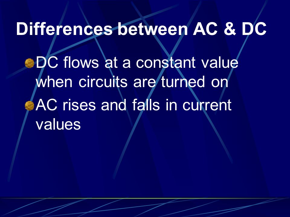 Differences between AC & DC