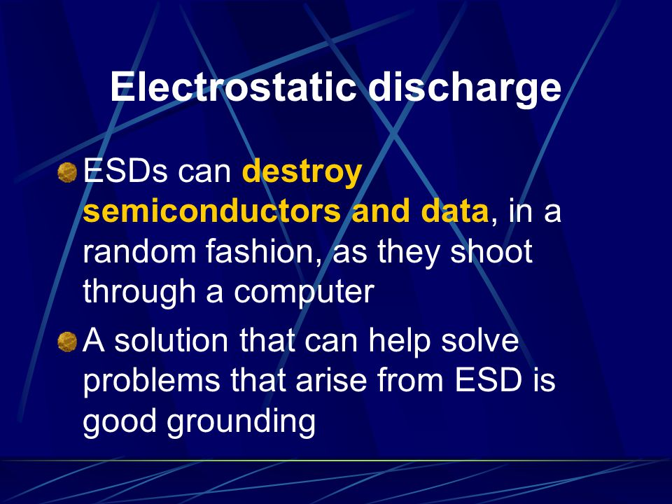 Electrostatic discharge