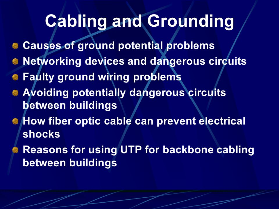 Cabling and Grounding Causes of ground potential problems