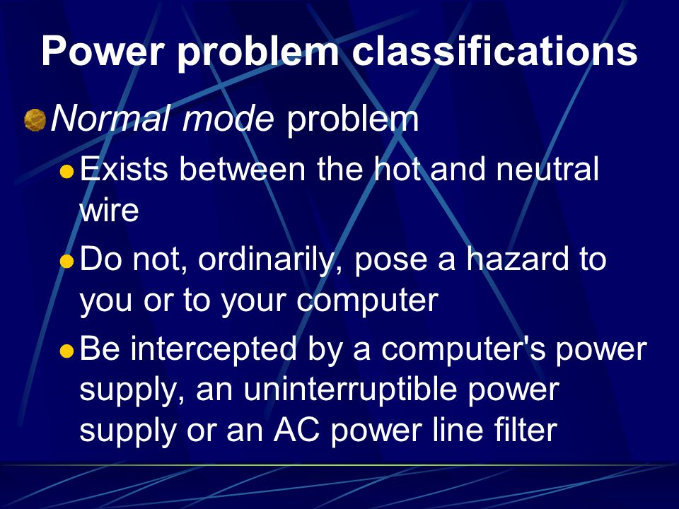 Power problem classifications