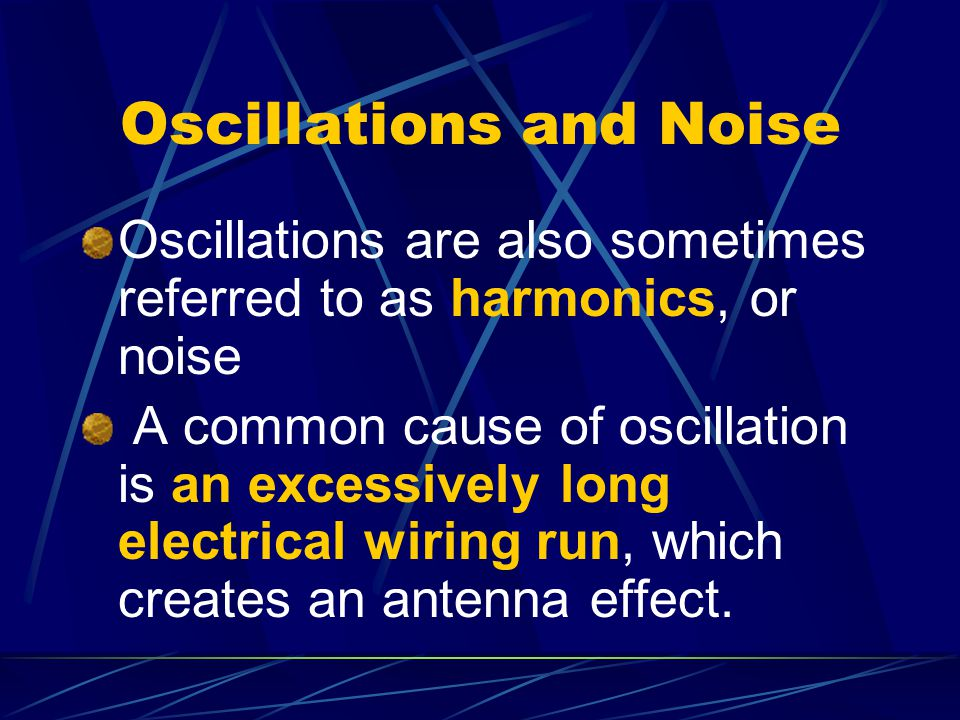 Oscillations and Noise