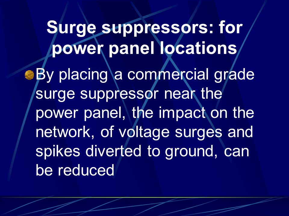 Surge suppressors: for power panel locations