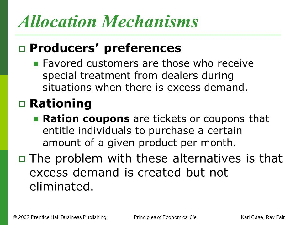 Allocation Mechanisms