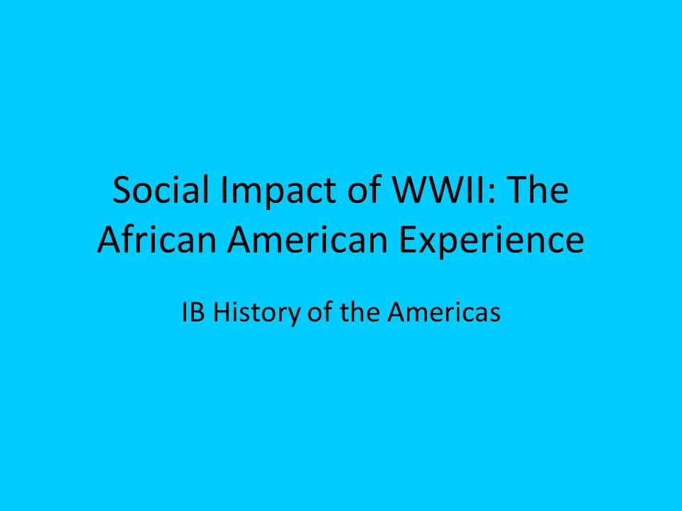 african american experience Study soc338 the african american experience from university of phoenix view soc338 course topics and additional information.