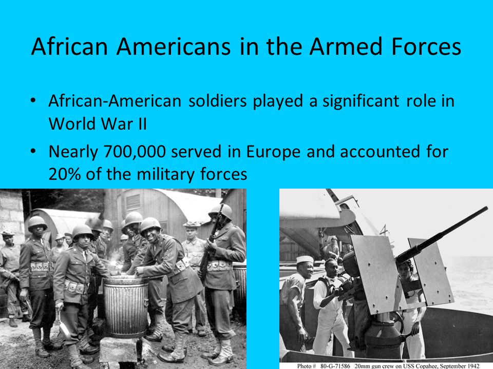 African Americans in the Armed Forces