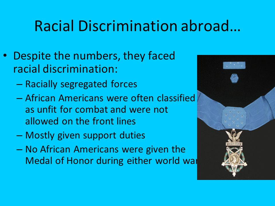Racial Discrimination abroad…