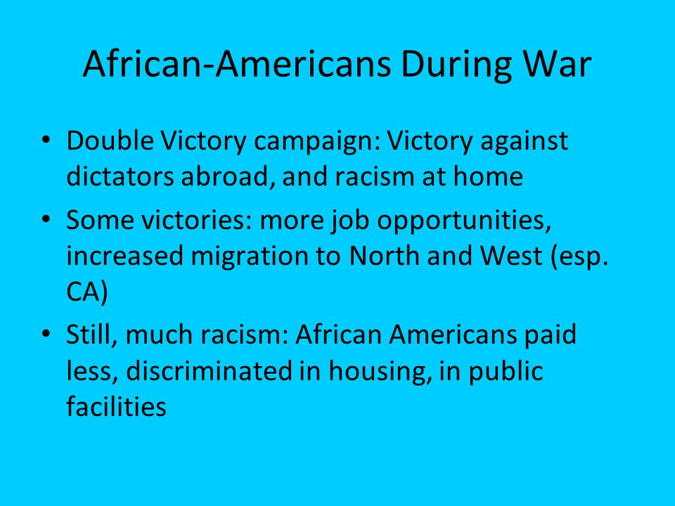 African-Americans During War