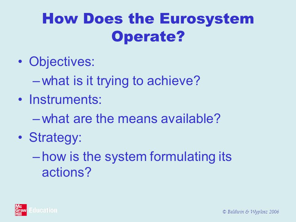 How Does the Eurosystem Operate