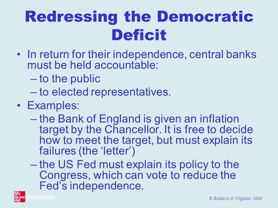 Redressing the Democratic Deficit