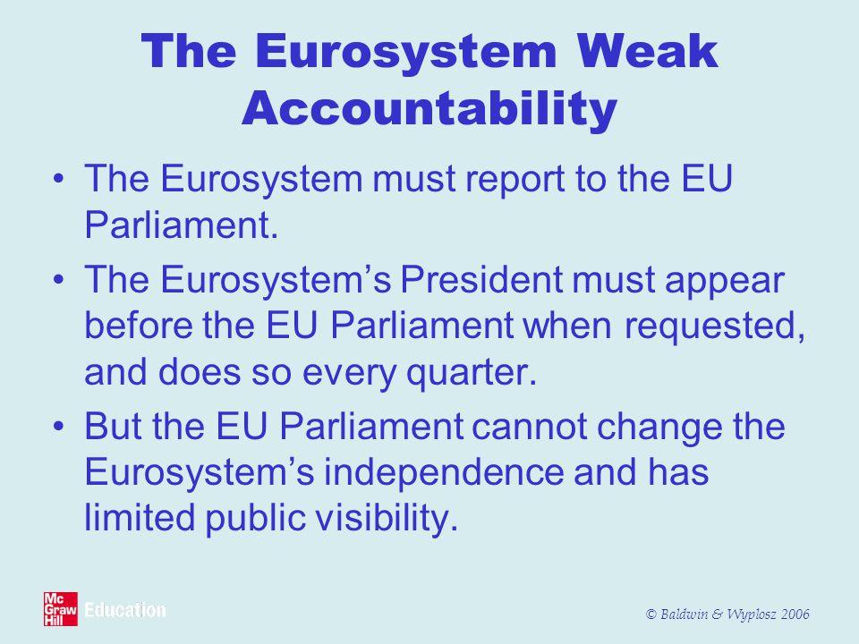 The Eurosystem Weak Accountability