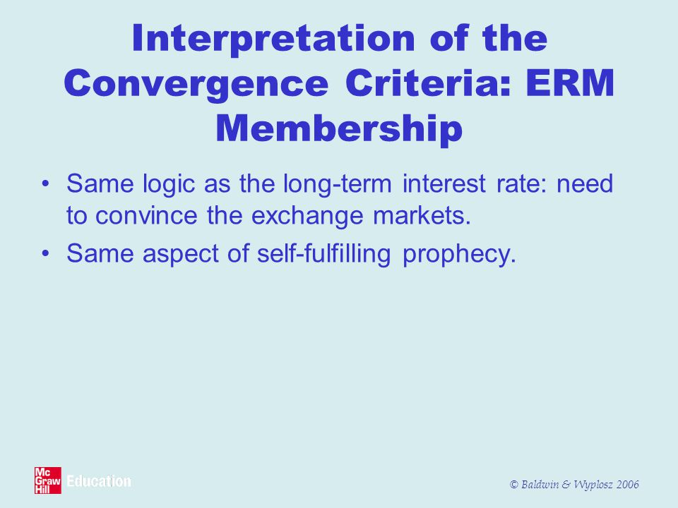 Interpretation of the Convergence Criteria: ERM Membership