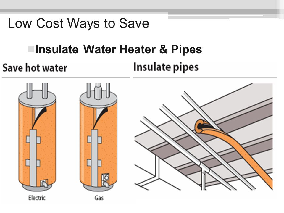 Low Cost Ways to Save Insulate Water Heater & Pipes