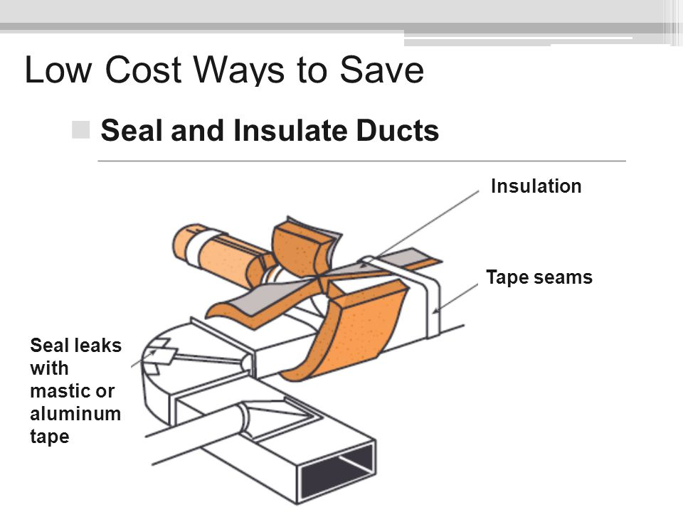 Low Cost Ways to Save Seal and Insulate Ducts Insulation Tape seams