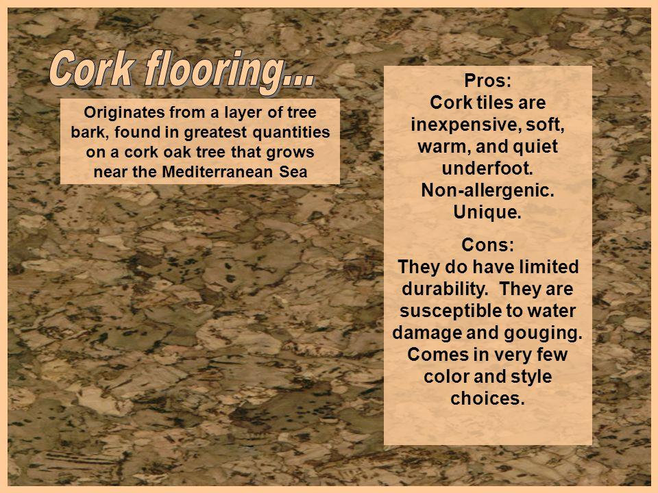Cork flooring...