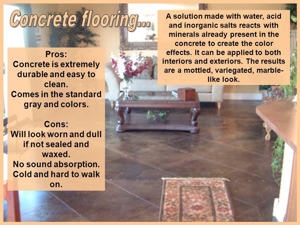 Concrete flooring...
