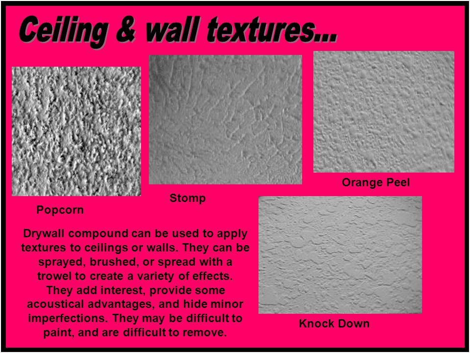 Ceiling & wall textures...