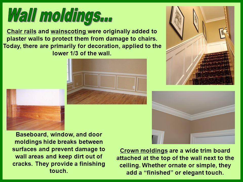 Wall moldings...