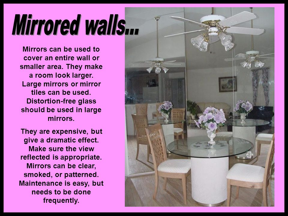 Mirrored walls...