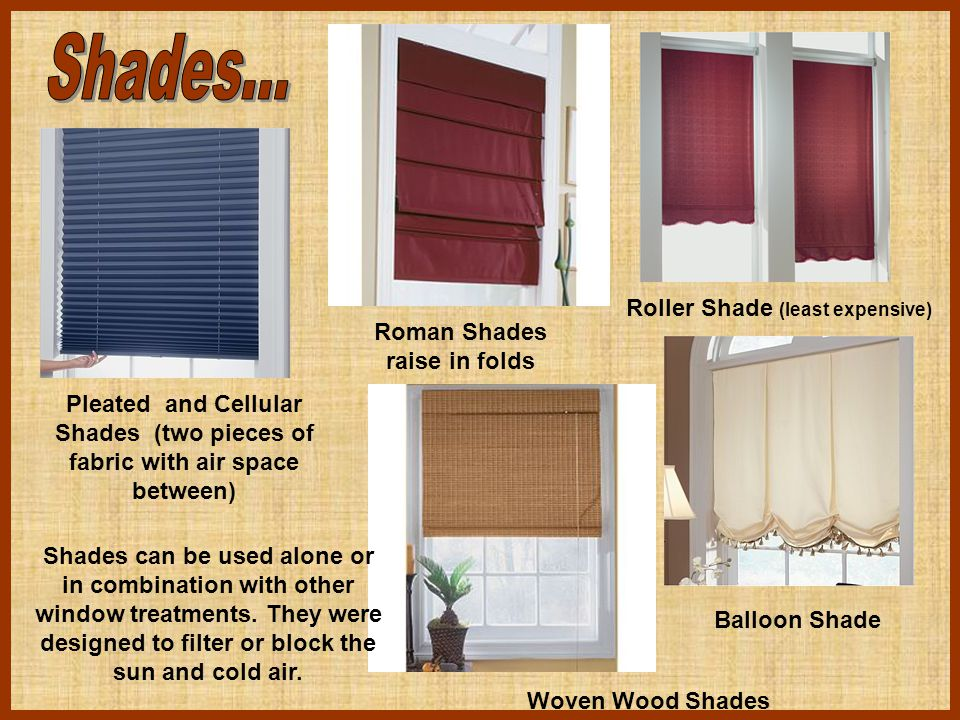 Roman Shades raise in folds