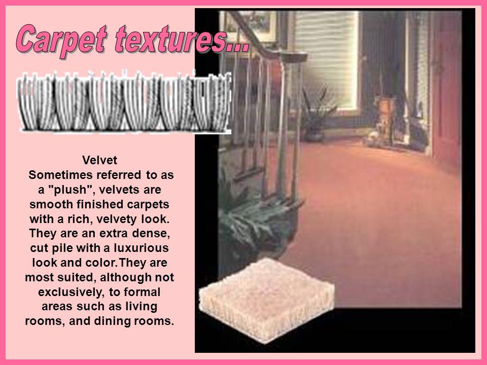 Carpet textures... Velvet