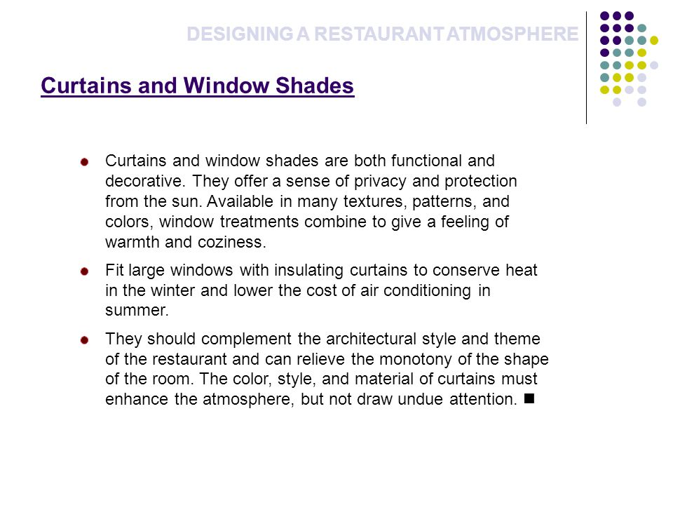 Curtains and Window Shades