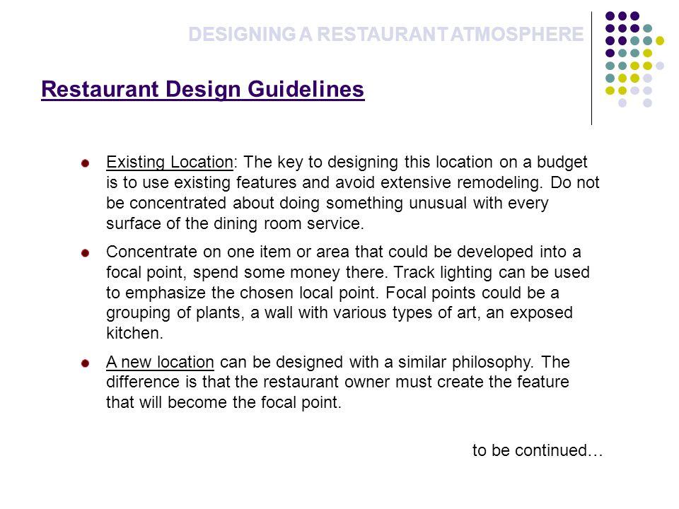 Restaurant Design Guidelines