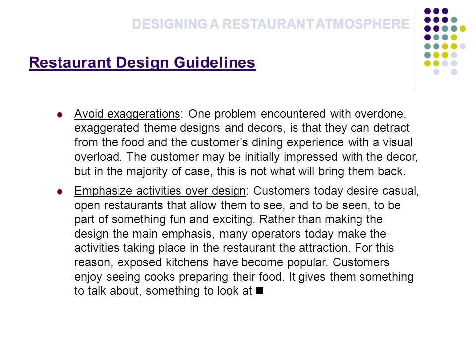 Restaurant Design Guidelines