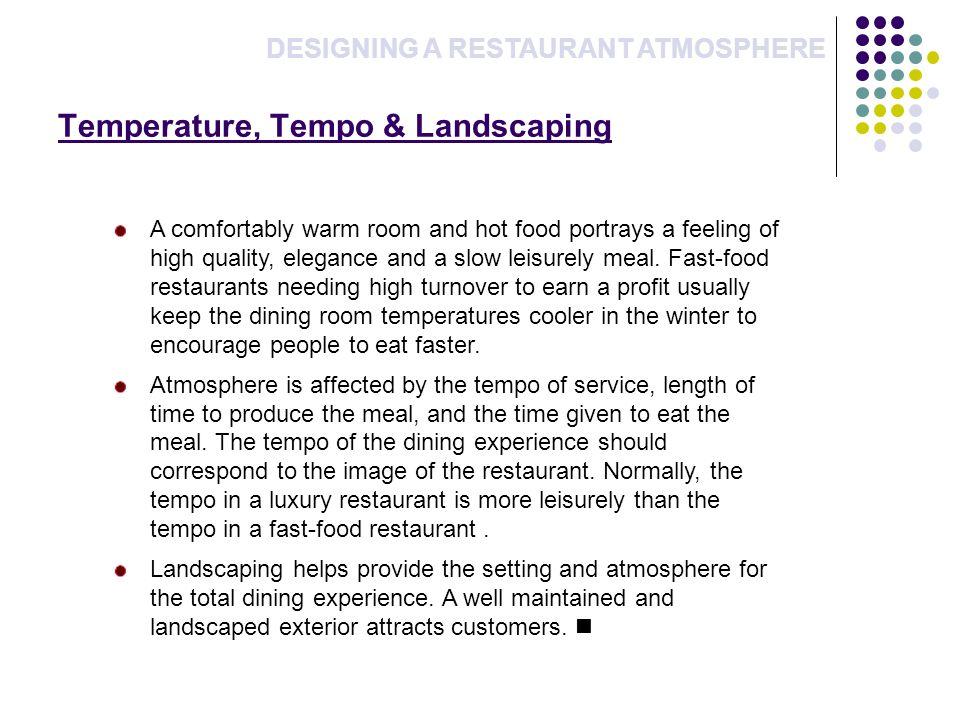 Temperature, Tempo & Landscaping