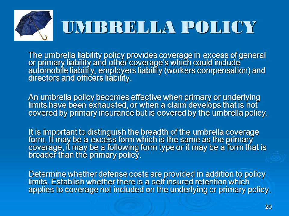 UMBRELLA POLICY