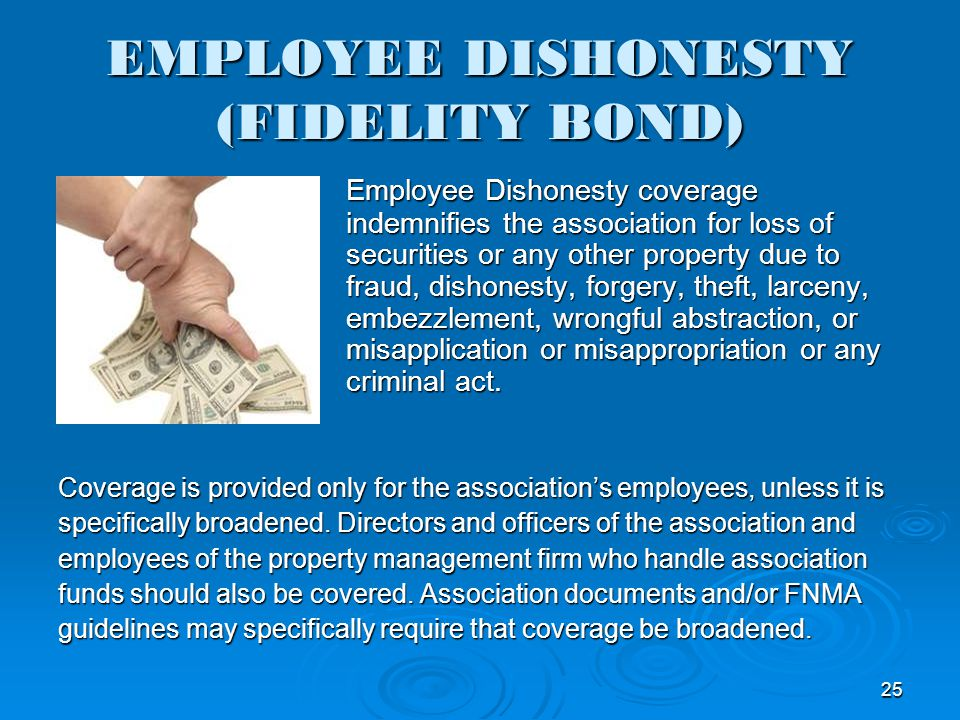 EMPLOYEE DISHONESTY (FIDELITY BOND)