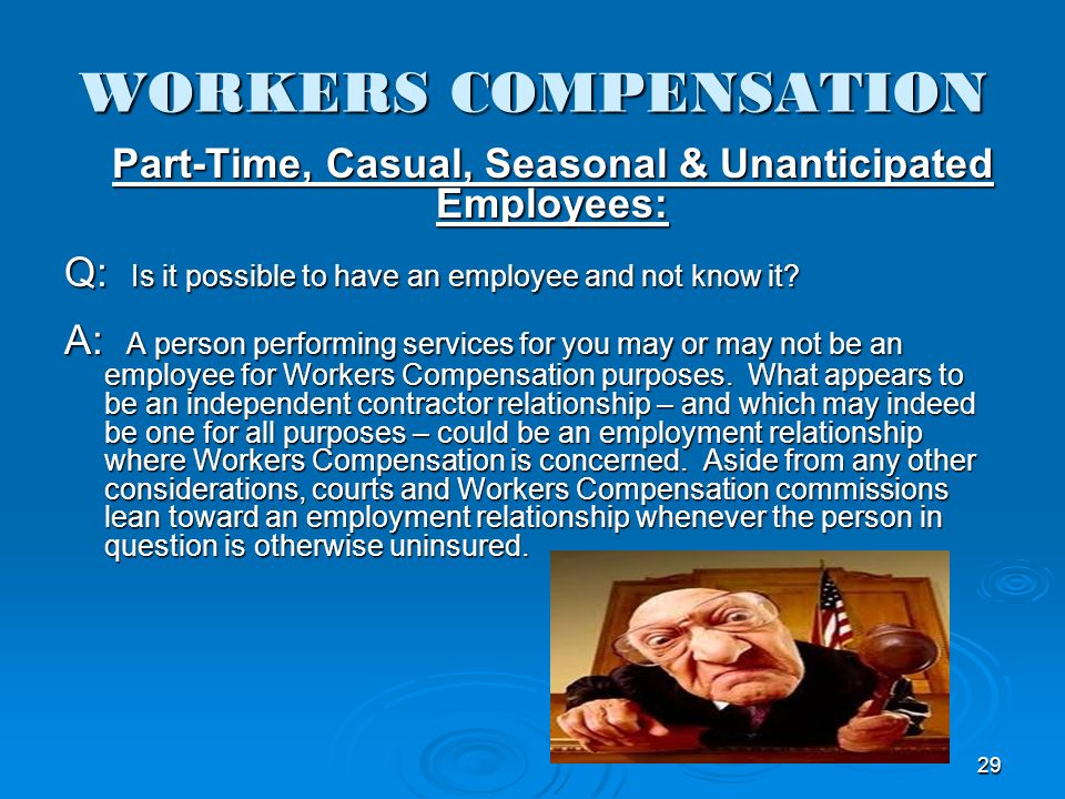 Part-Time, Casual, Seasonal & Unanticipated Employees: