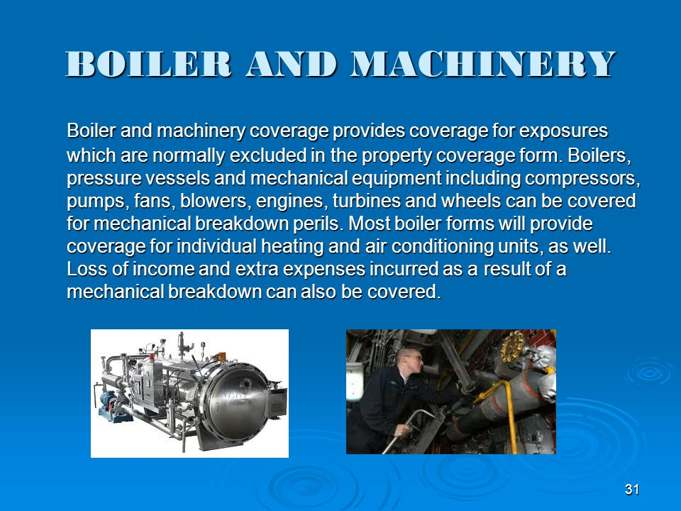 BOILER AND MACHINERY