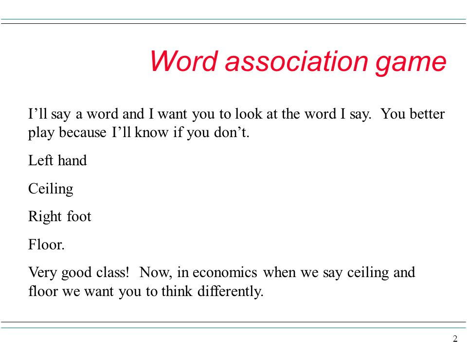 Word association game I'll say a word and I want you to look at the word I say. You better play because I'll know if you don't.