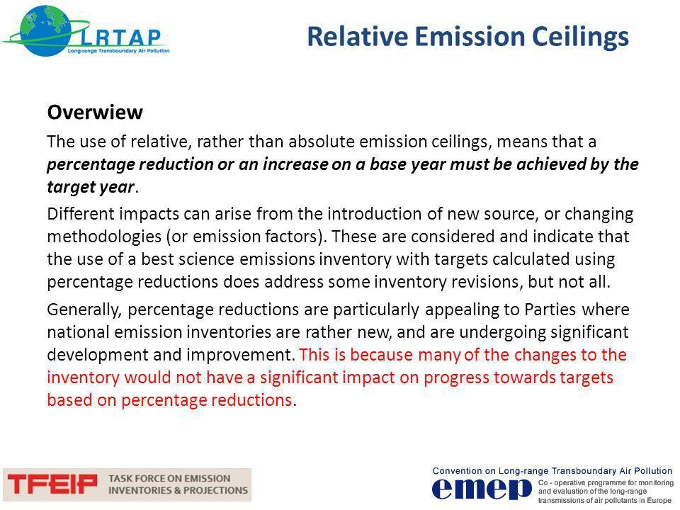 Relative Emission Ceilings