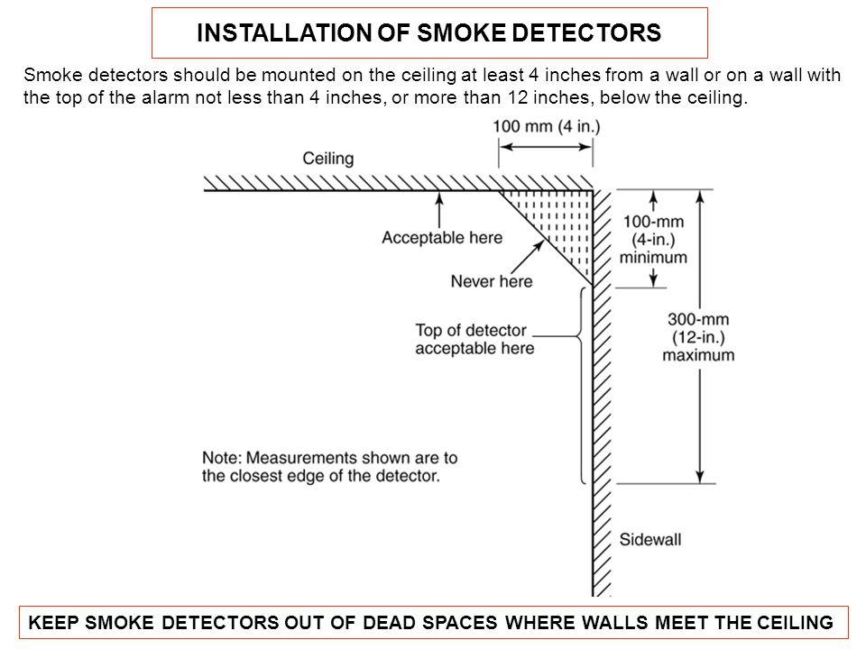 INSTALLATION OF SMOKE DETECTORS