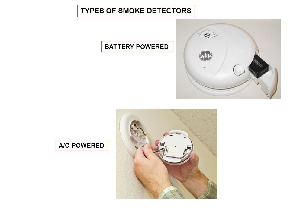 TYPES OF SMOKE DETECTORS