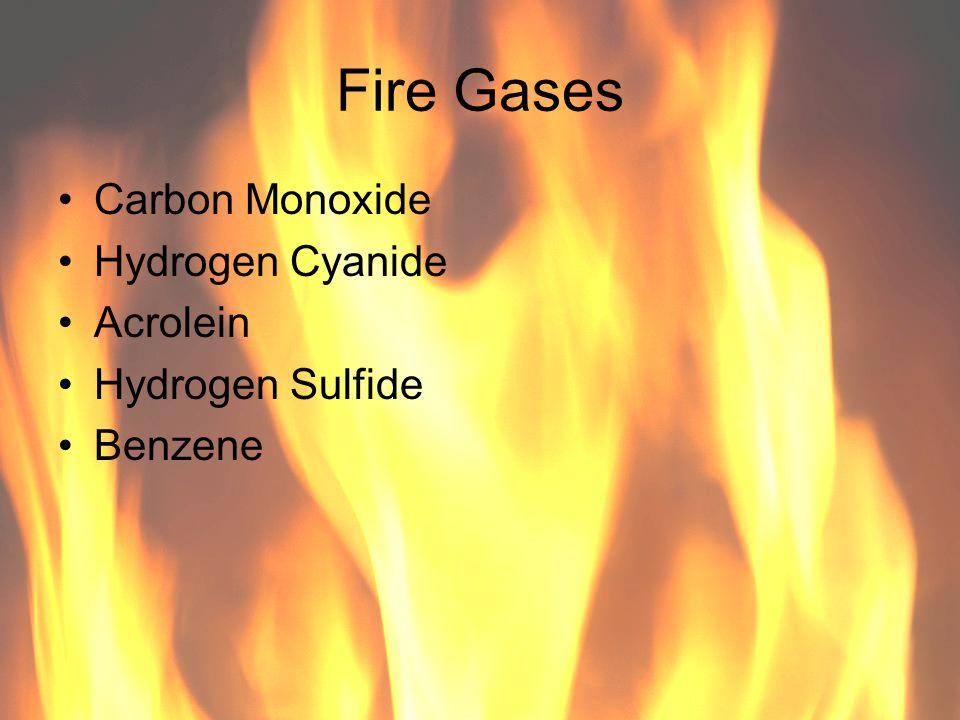 Fire Gases Carbon Monoxide Hydrogen Cyanide Acrolein Hydrogen Sulfide